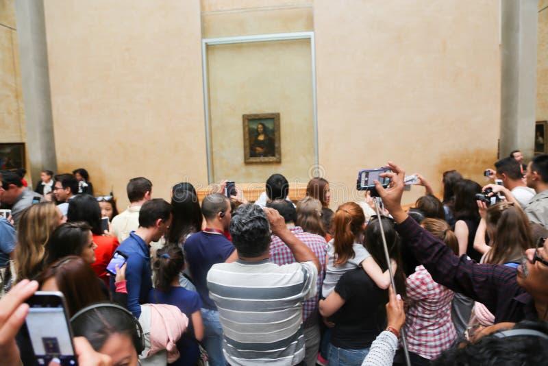 Mona Lisa - Louvremuseum, Paris royaltyfria foton