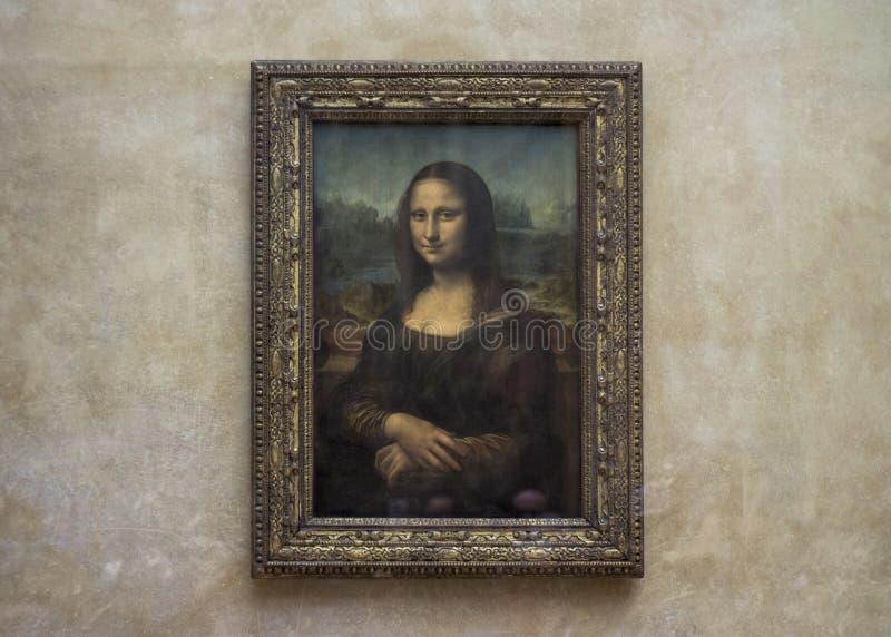 Mona Lisa p? Louvremuseet utan turister arkivfoto