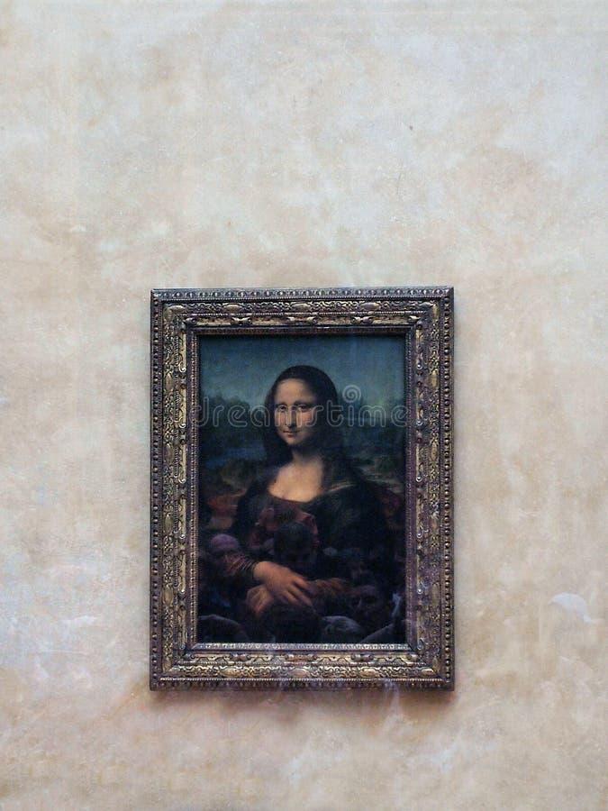 Mona Lisa Painting, musée de Louvre, Paris, France image stock