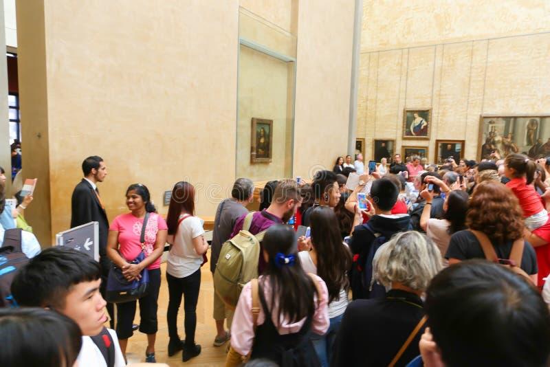 Mona Lisa Paris stockfotos