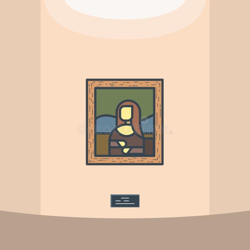 Mona Lisa Porträt lizenzfreie abbildung