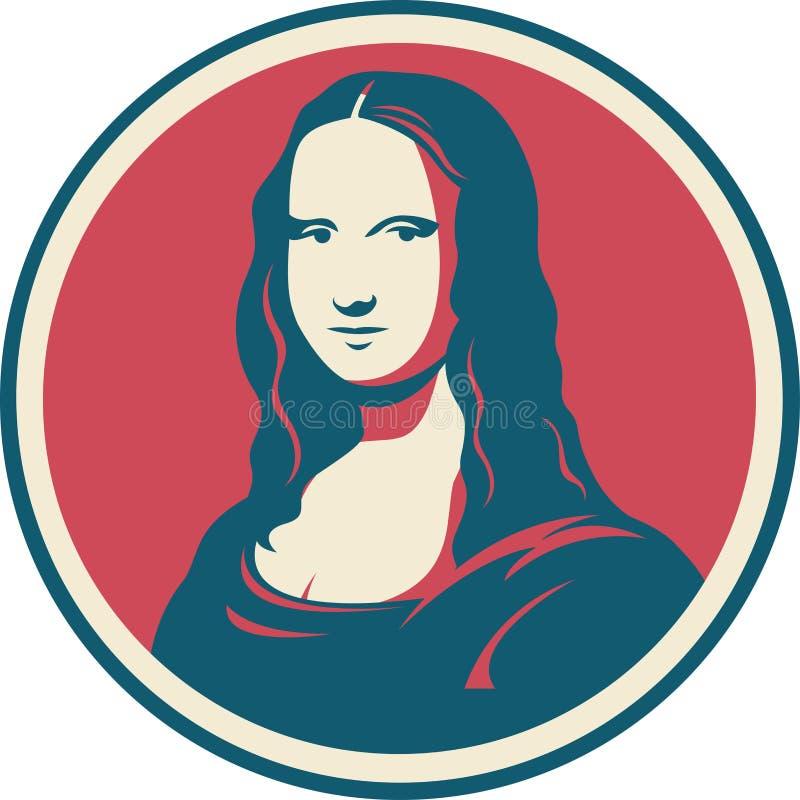 Mona Lisa portret ilustracji