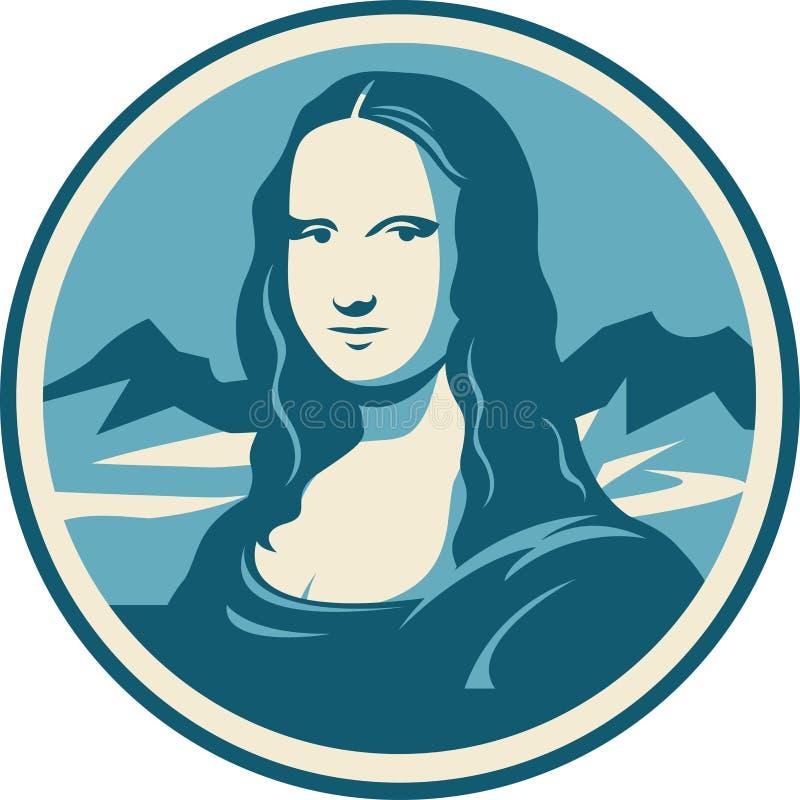 Mona Lisa portret ilustracja wektor