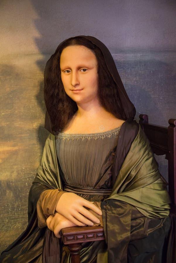 Mona Lisa w muzeum Madame Tussauds fotografia stock