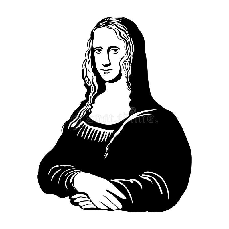 Mona lisa Wektorowy portret Mona Lisa ilustracja wektor