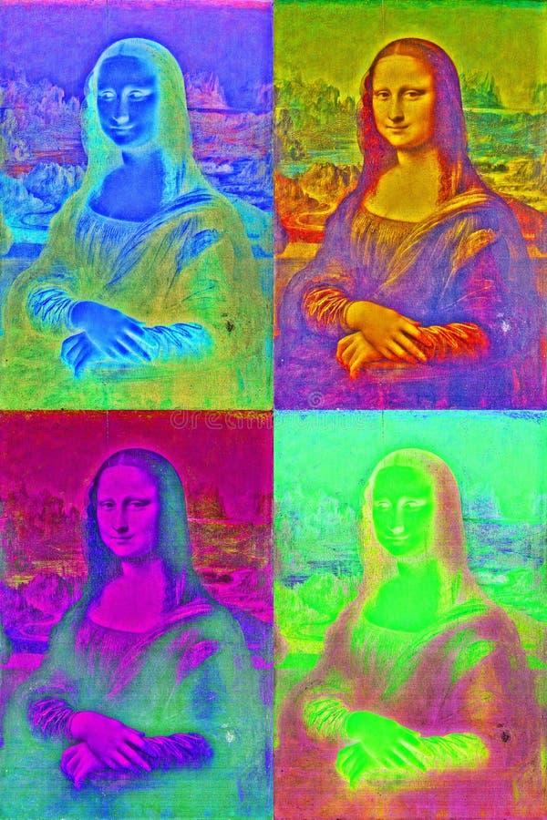 Mona Lisa wystrzału sztuki styl zdjęcie royalty free