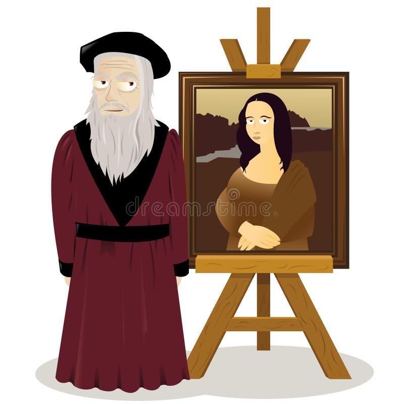 Mona Sztaluga i Leonardo Lisa Da Vinci royalty ilustracja