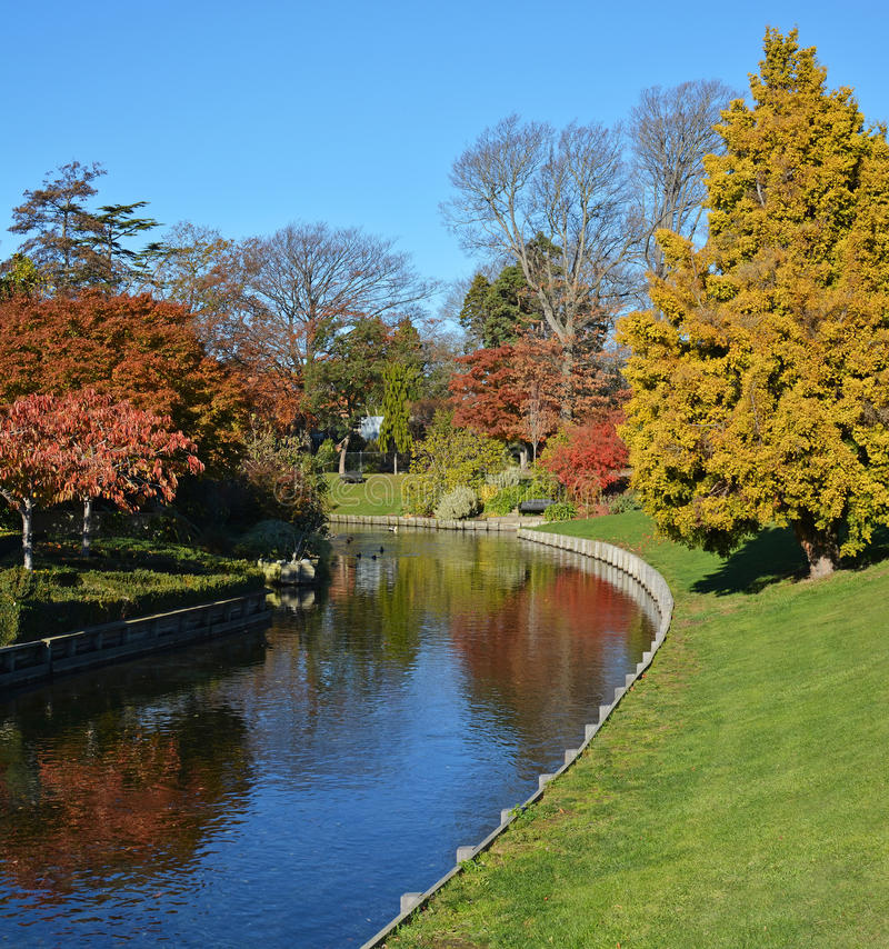 Mona Vale in Autumn, Christchurch New Zealand stock images