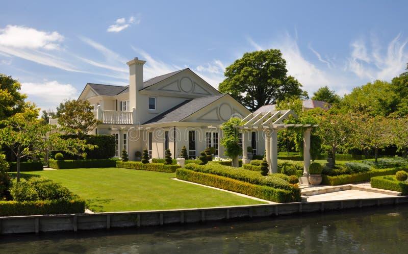 Mona Vale - beaux Chambre et jardin, Christchurch photos stock