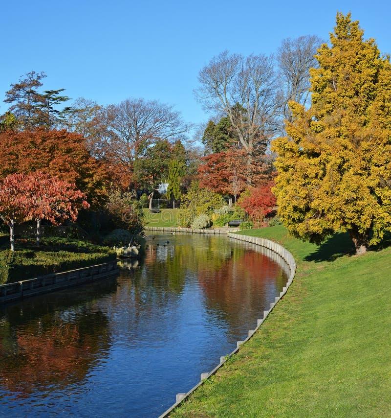 Mona Vale no outono, Christchurch Nova Zelândia imagens de stock