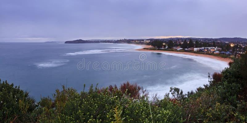 Mona Vale Rock Pool Dist-panorama royalty-vrije stock foto's