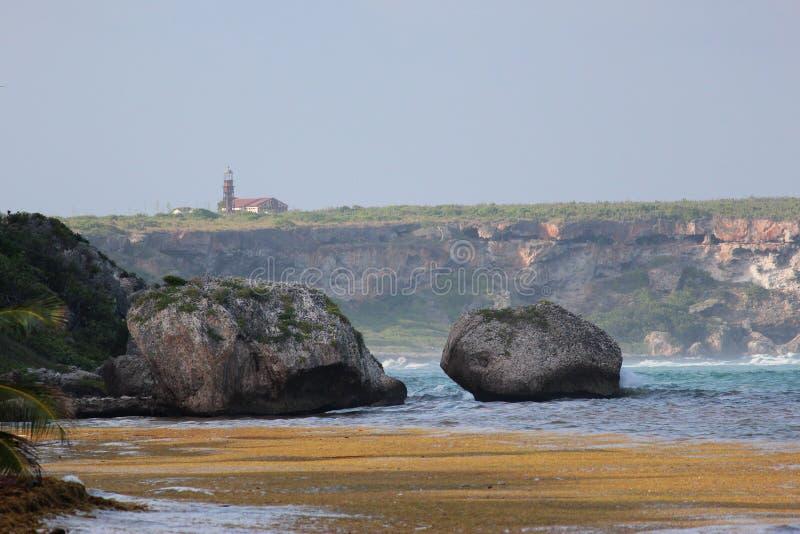 Mona wyspy latarnia morska zdjęcia royalty free