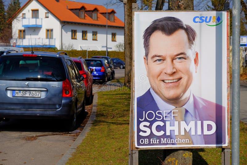 Monachium burmistrzowski wybory 2014 obraz royalty free