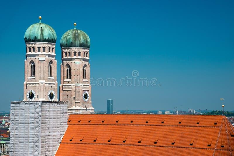 Monachium, Frauenkirche, katedra Nasz Kochana dama, Bavaria, Niemcy fotografia royalty free