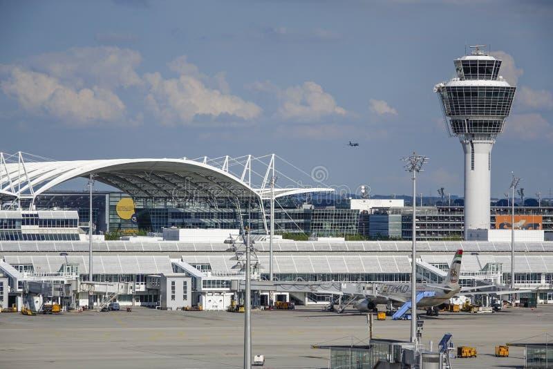 Monachium lotnisko, Bavaria, Niemcy zdjęcia royalty free