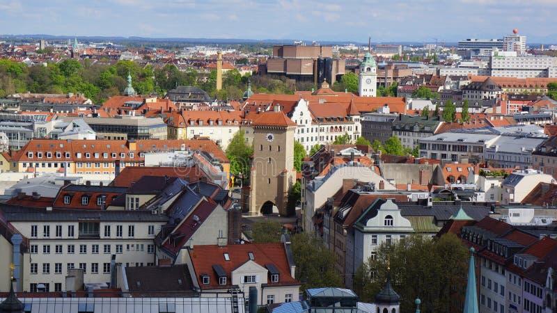 Monachium Marienplatz Bavaria urząd miasta Nowy widok zdjęcia stock