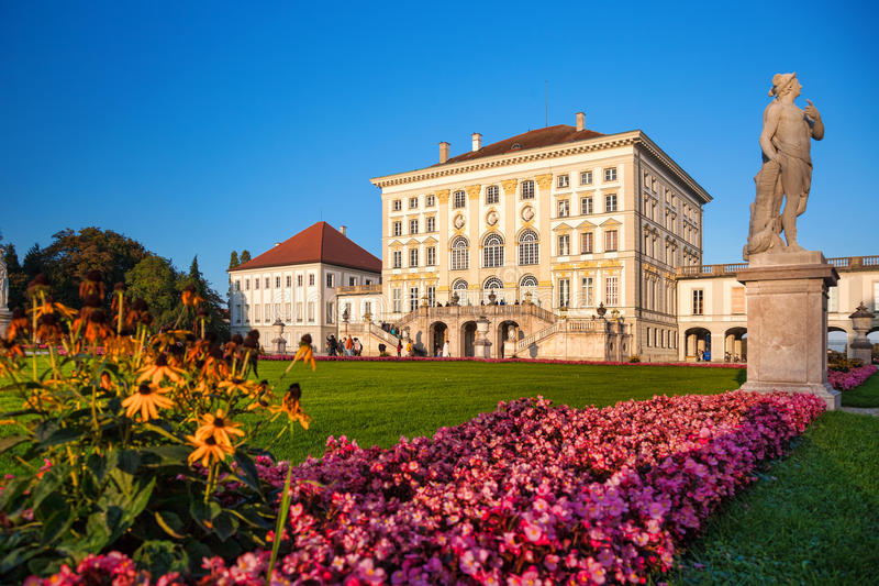 Monachium nymphenburg zamek German obraz stock