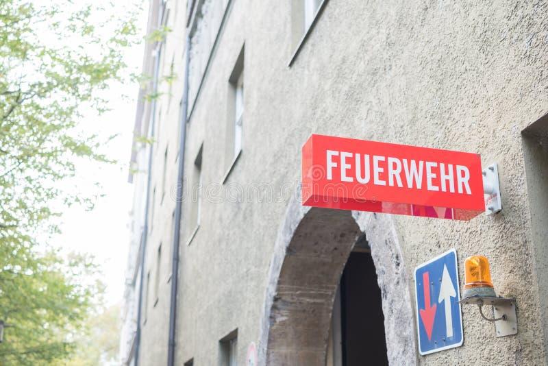 Monachium posterunek straży pożarnej zdjęcia royalty free