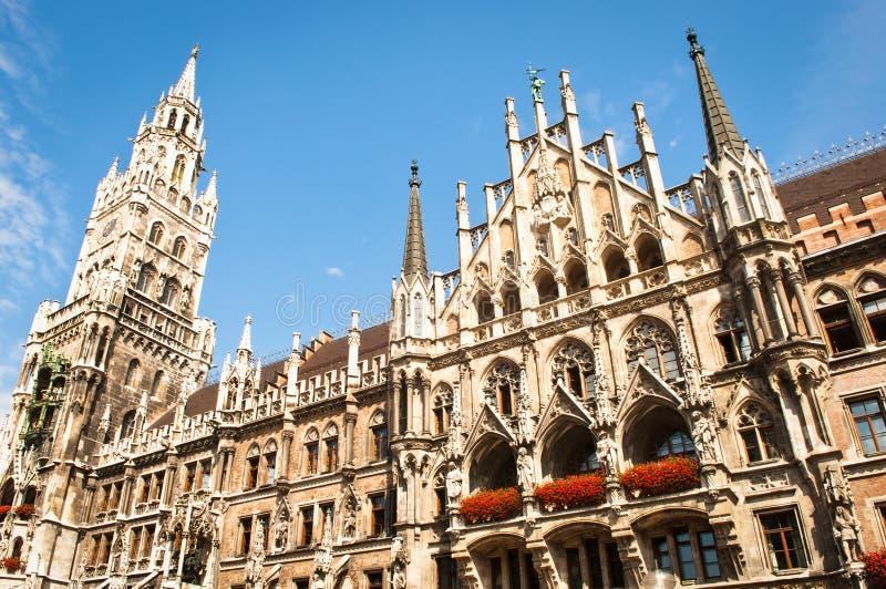 Monachium urząd miasta zdjęcia royalty free