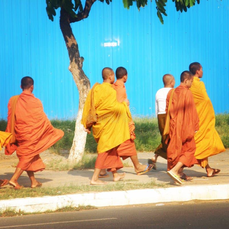 Monaci di Phnom Penh fotografia stock