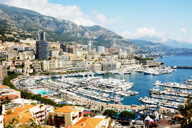 Download Monaco stock photo. Image of trees, hills, harbour, tower - 11585518