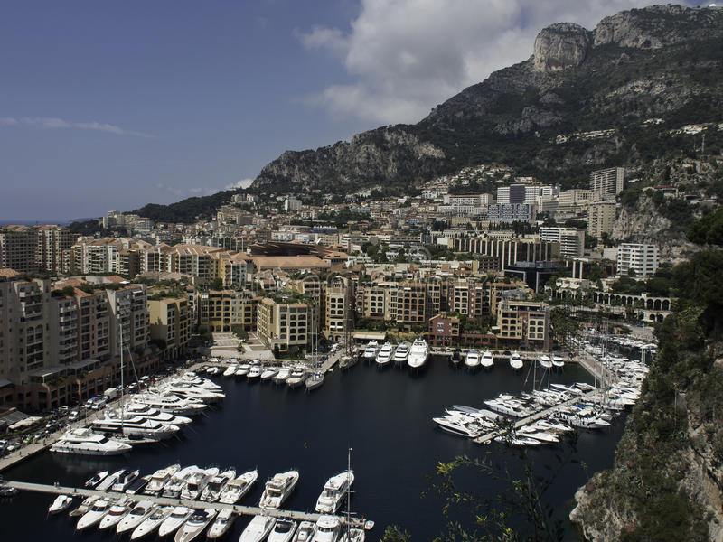 Download Monaco image stock éditorial. Image du balcon, fleurs - 56486869