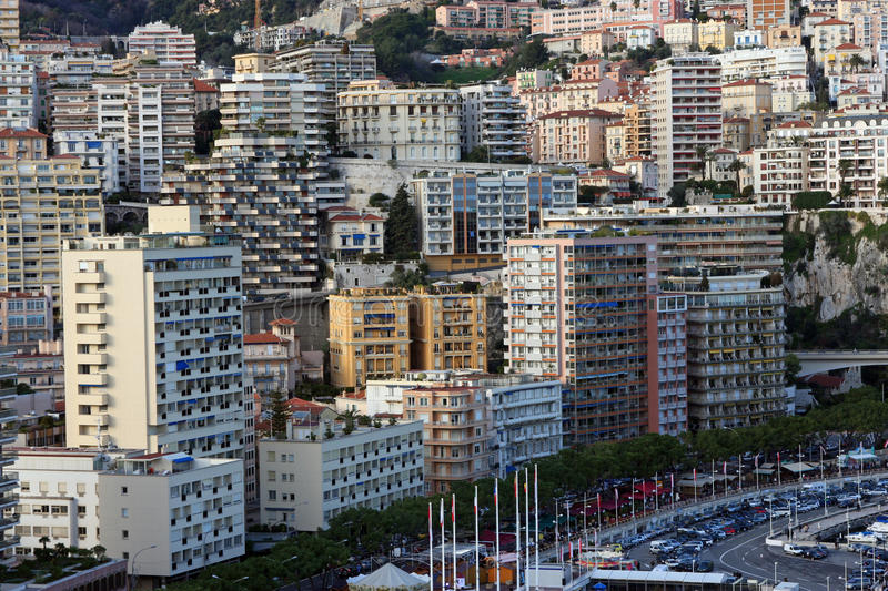 Monaco. Viewed from the rock royalty free stock image