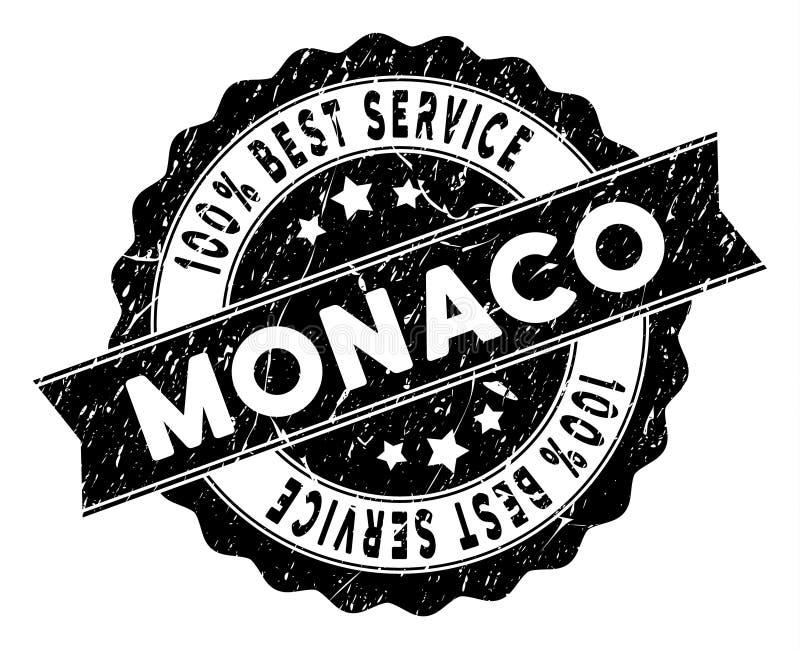 Monaco bästa tjänste- stämpel med nödlägestil vektor illustrationer