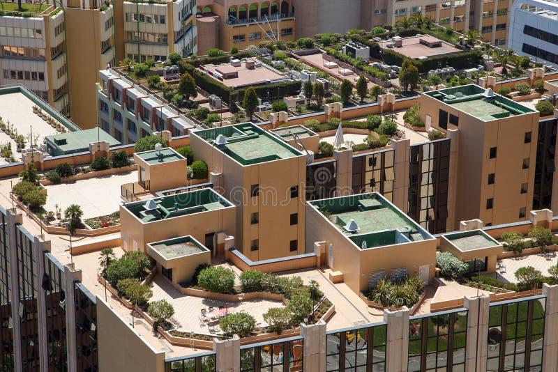 Monaco byggnadstak arkivbilder