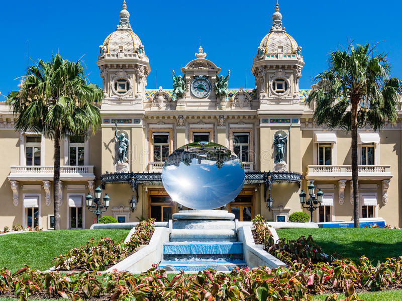 Monaco Casino Mirror Dish royalty free stock photo