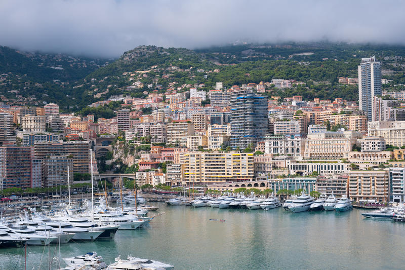 Download Monaco on a cloudy day stock image. Image of summer, view - 27260969