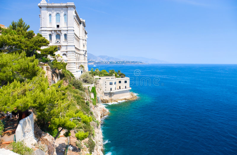 Monaco coast royalty free stock photo