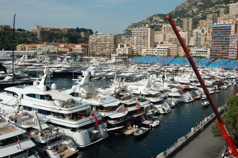 Monaco durante o Prix grande 2009 foto de stock