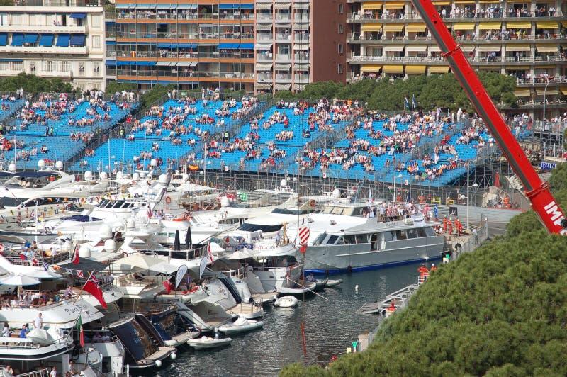 Monaco durante o Prix grande 2009 imagem de stock
