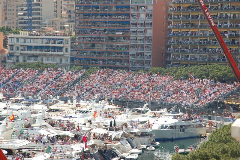 Monaco durante o Prix grande 2009 fotos de stock