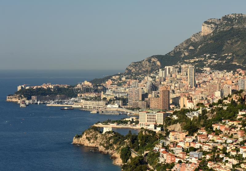 Monaco en Beausoleil, Kooi D 'Azur van Franse Riviera royalty-vrije stock fotografie