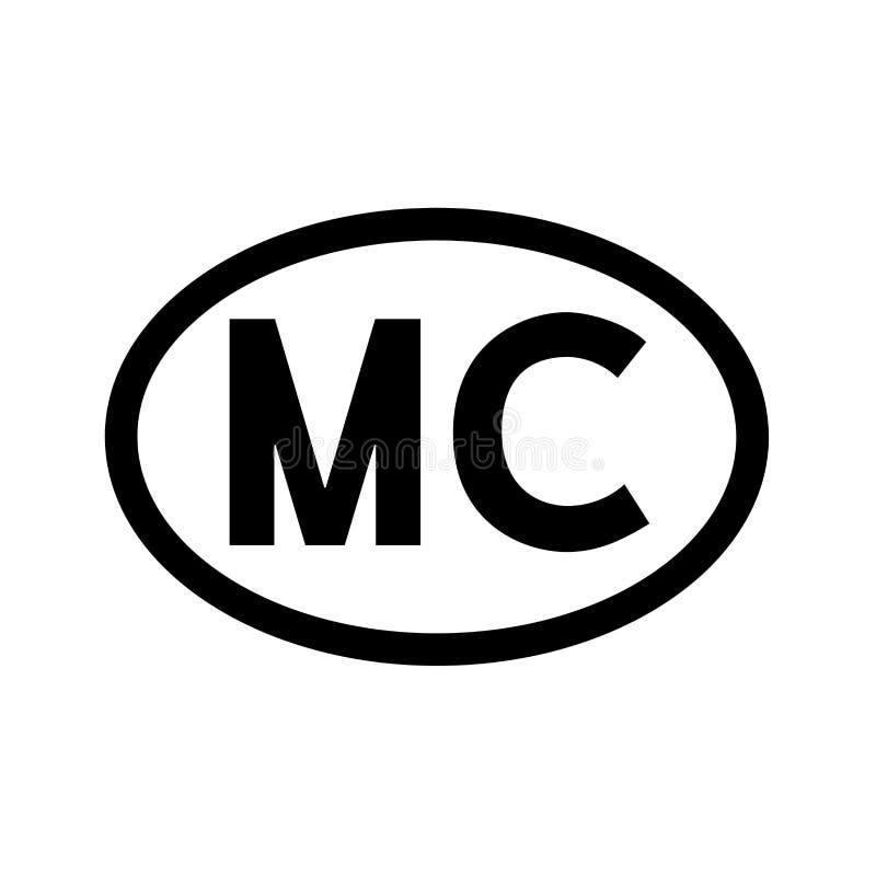 Monaco för landskod illustration vektor illustrationer