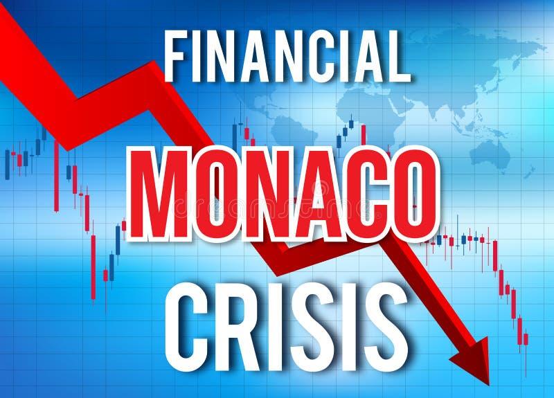 Monaco Financial Crisis Economic Collapse Market Crash Global Meltdown. Illustration stock illustration