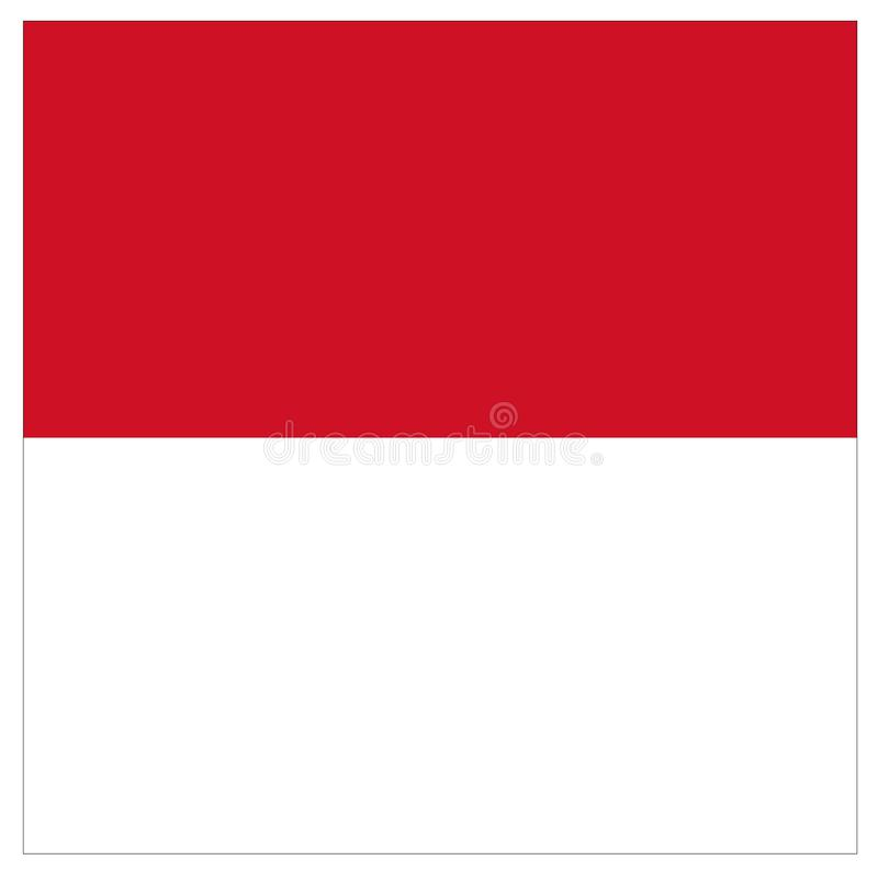 Monaco flag - city-state in Western Europe vector illustration