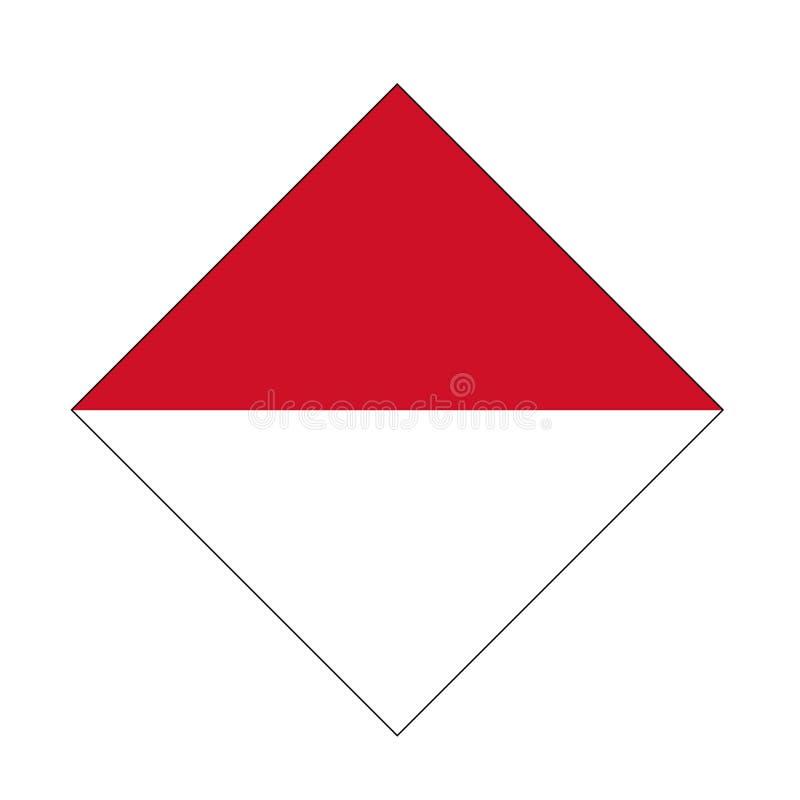 Monaco flag - Principality of Monaco royalty free illustration