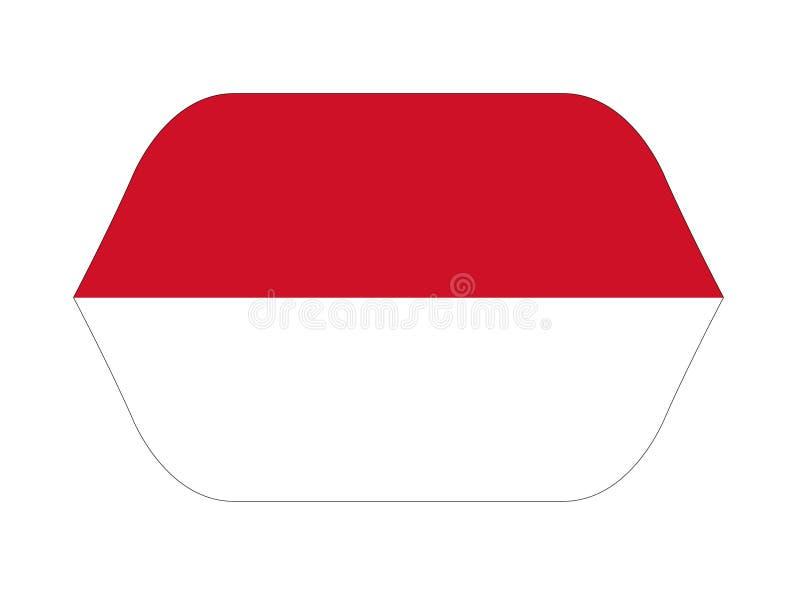 Monaco flag - Principality of Monaco stock illustration