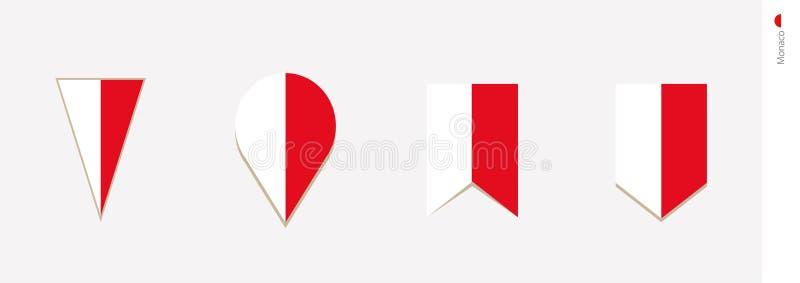 Monaco flag in vertical design, vector illustration stock illustration