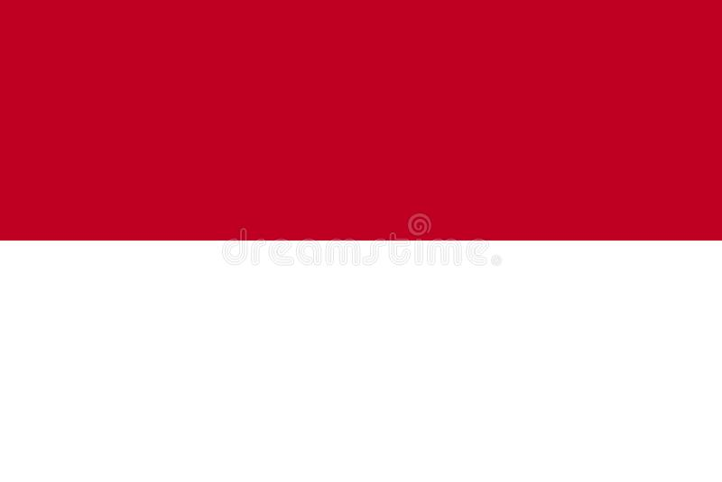 Monaco flaga ilustracja wektor