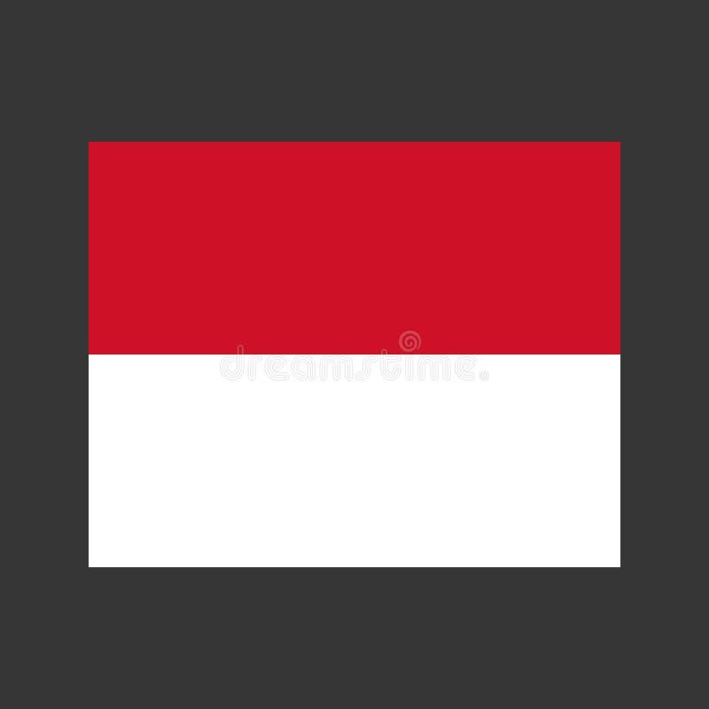 Monaco flaggaillustration vektor illustrationer
