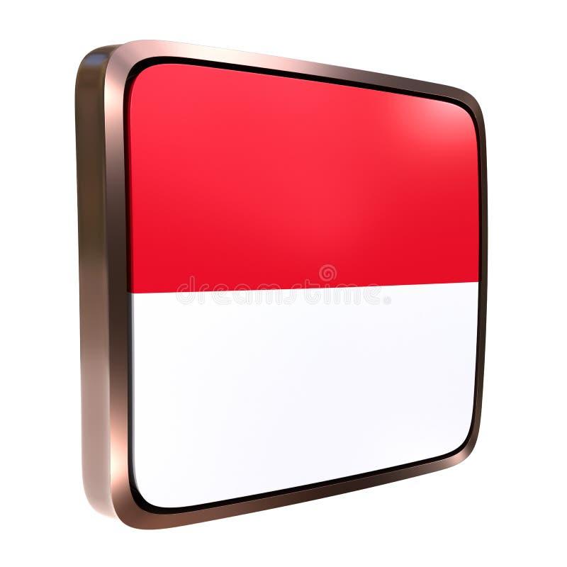 Monaco flaggasymbol royaltyfri illustrationer