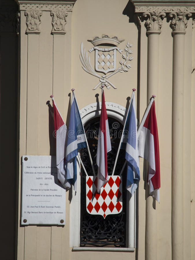 Monaco flags stock photos