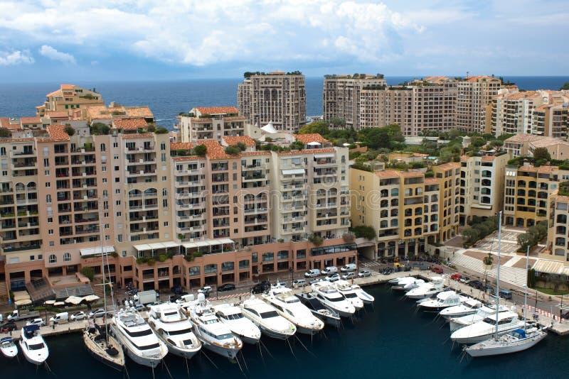 MONACO Fontvieille, nytt område av Monaco arkivbilder