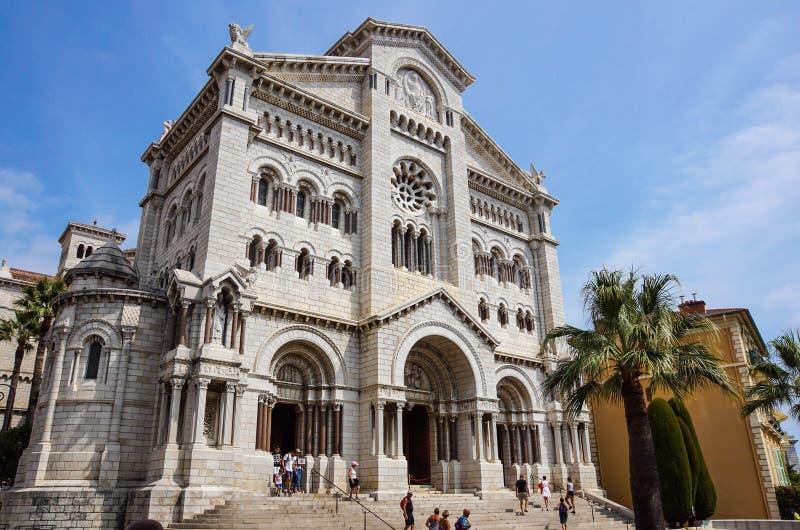 Monaco Frankrike 16 Augusti 2017: St Nicholas cathedrale i Monte - carlo, Monaco arkivbild