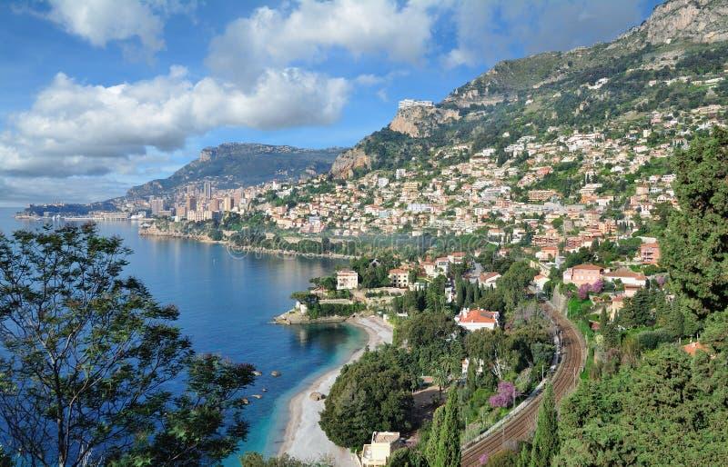 Monaco franska Riviera, söder av Frankrike royaltyfri foto