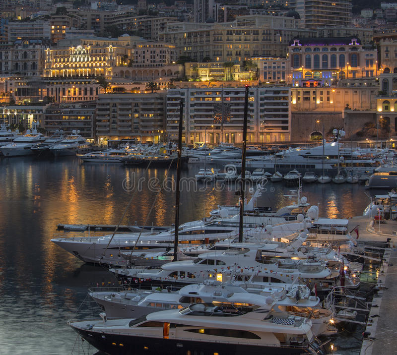Monaco - French Riviera. The Principality of Monaco, a sovereign city state, located on the French Riviera. Monaco has an area of 1.98 km2 (0.76 sq mi), and a stock photography